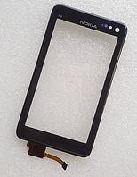 Оригинальный тачскрин / сенсор (сенсорное стекло) с рамкой для Nokia N8 (черный цвет)