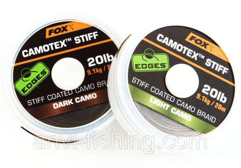 FOX жесткий поводковый материал Camotex EDGES Light Camo (светлый камуфляж) Тест: 25.00 lb