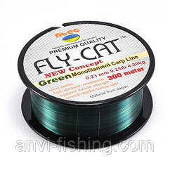 Леска карповая NTEC Fly Cat Green - 300m (Monofilament Carp Line) 0,20mm - 3,2kg