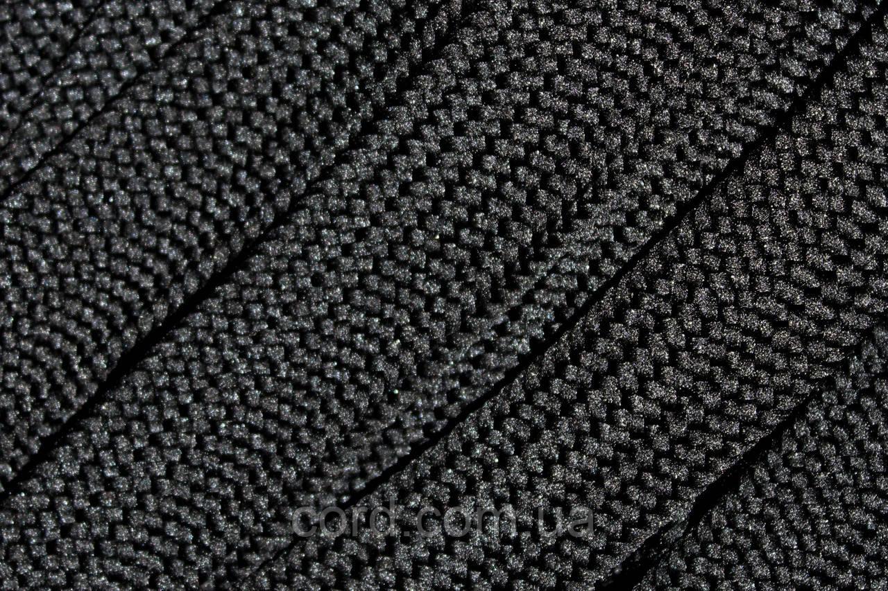 Шнур плоский тесьма  20мм (50м) черный