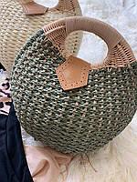 Женская летняя сумочка цвета хаки