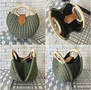 Женская летняя сумочка цвета хаки, фото 3