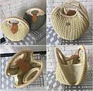 Женская летняя сумочка песочная, фото 3