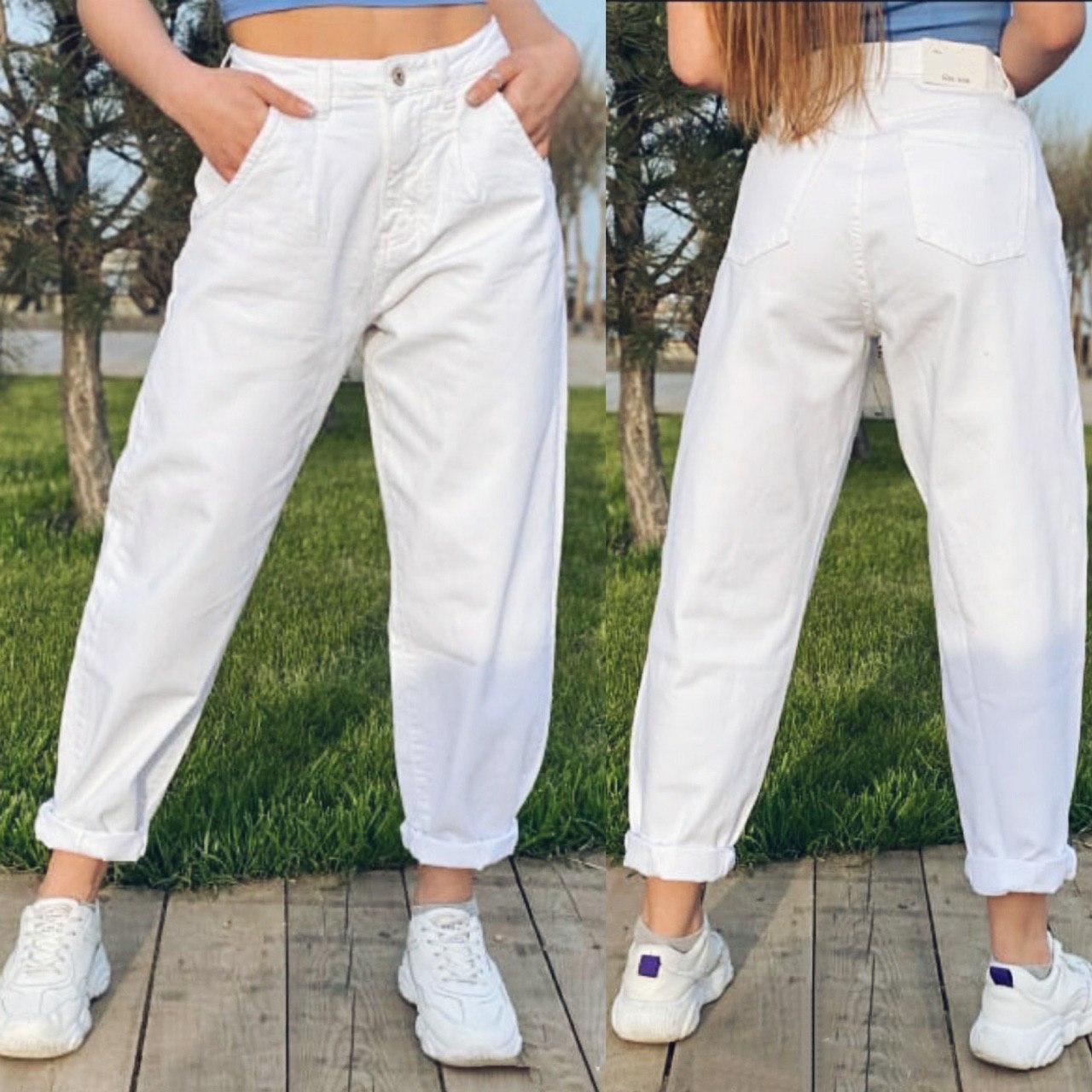 Свободные джинсы Slouchy с высокой посадкой джинсы слоучи белые