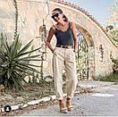 Свободные джинсы Slouchy с высокой посадкой джинсы слоучи белые, фото 9