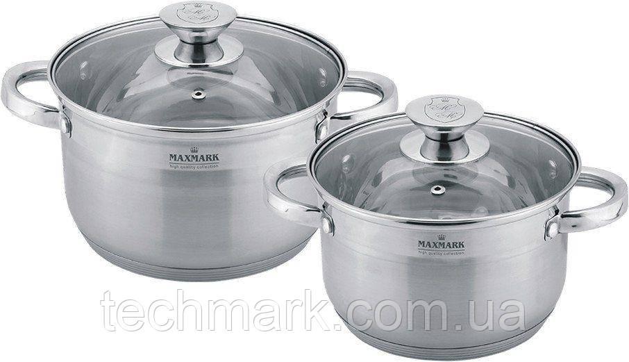 Набор посуды кастрюли MAXMARK MK-3504A из 4 предметов