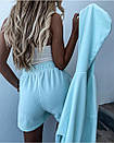 Костюм женский тройка худи топ и шорты с высокой посадкой в стиле спорт шик, фото 4