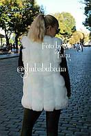 Женская меховая жилетка безрукавка Эко Мех 76 см Молочный