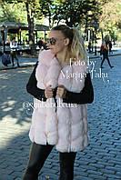 Женская жилетка безрукавка Эко Мех 76 см с войлочной подкладкой