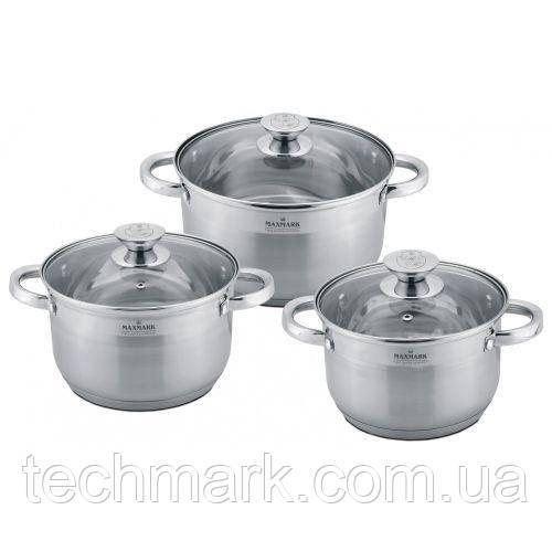Набор посуды кастрюли MAXMARK MK-3506B из 6 предметов