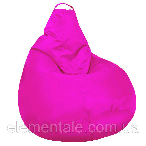 Бескаркасное мягкое Кресло мешок Груша Пуф для взрослых XXL 130х100см Розовый пуфик