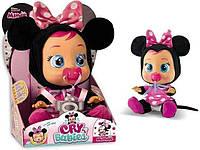 Интерактивная Кукла плакса IMC Toys Cry Babies Minnie Mouse Baby Doll Пупс Плачущий младенец Минни Маус, фото 1