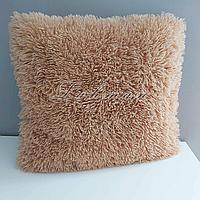 Чехол для подушки травка  50х50 см.   Декоративная пушистая наволочка для спальни, гостиной