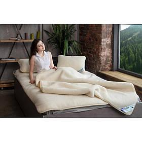 Комплект постельного белья из шерсти мериноса Woolmark HILZER Полуторный 160х200 см Шерсть/Сатин+Наматрасник