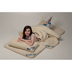 Комплект постельного белья из шерсти мериноса Woolmark HILZER Двуспальный 180х200 см Шерсть/Шерсть+Наматрасник