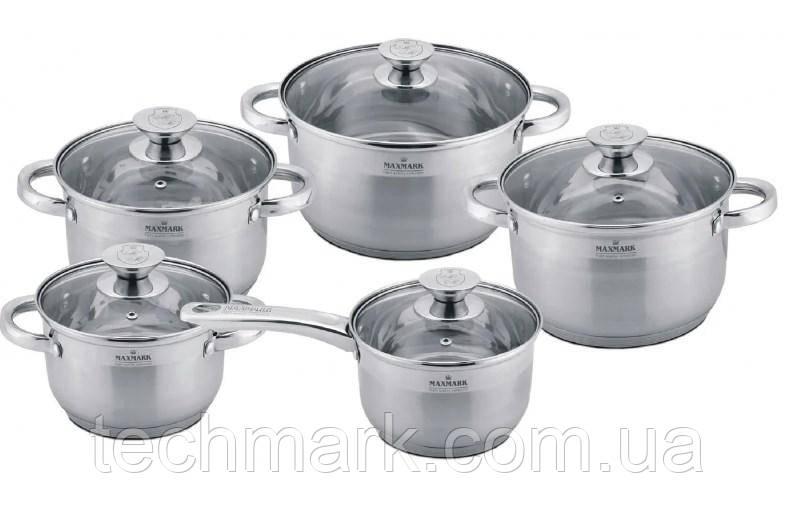 Набор посуды кастрюли MAXMARK MK-3510 из 10 предметов