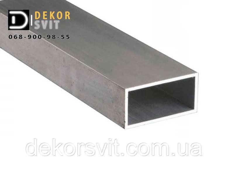 Алюминиевая труба прямокутна 80х20х2 / Анодированная