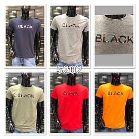 "Футболка мужская хлопковая ""BLACK"" Турция размер M-2XL ЛЮКС качество (от 4 шт)"