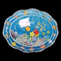 """Надувной игровой развивающий детский коврик """"Подводный мир"""", коврик водный, напольный коврик для малышей"""