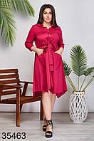 Модное женское платье на пуговицах р. 48-50, 52-54, 56-58, 60-62