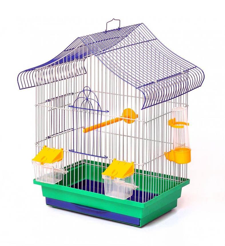 Клетка для птиц Лорі Мини-1 45 х 33 х 23 см Зеленая, фото 2