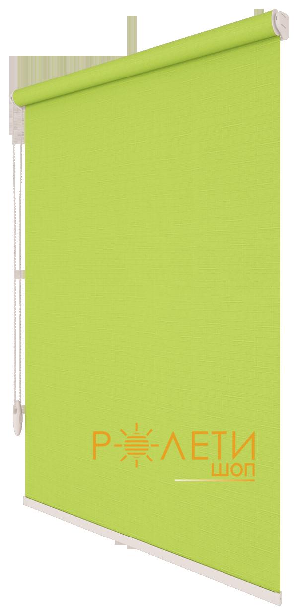 Ролета тканевая Е-Mini Лен 873 Светло-зеленый