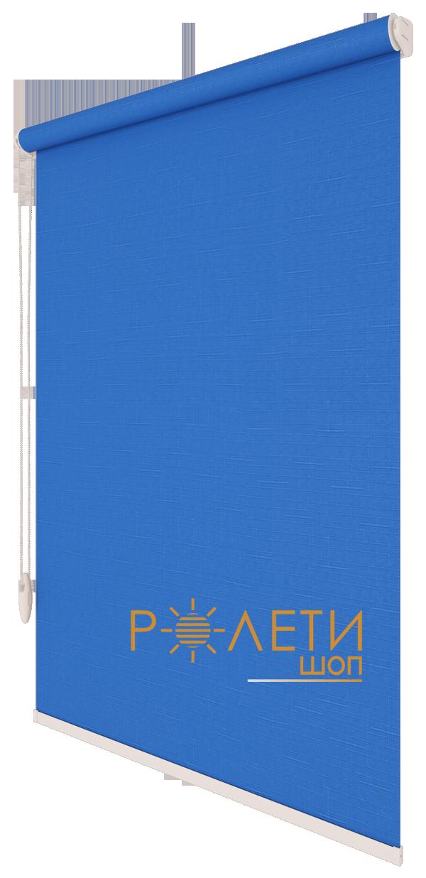 Ролета тканевая Е-Mini Лен 874 Синий