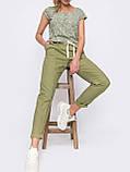 Льняные брюки со стрелками и подворотами внизу ЛЕТО, фото 5