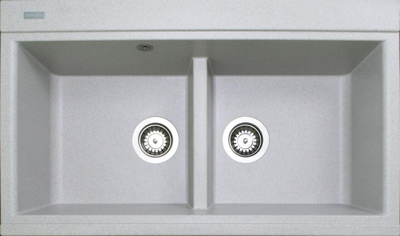 Кухонная мойка на две чаши гранитная (850х510х230 мм) Adamant SIMILAR (авена)