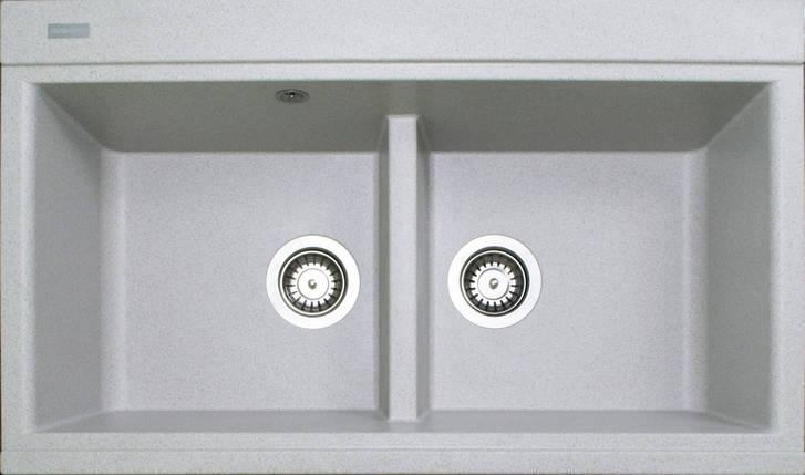 Кухонная мойка на две чаши гранитная (850х510х230 мм) Adamant SIMILAR (авена), фото 2
