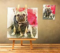Дизайн и печать картин по Вашим фото 40х40 см в акварельном стиле на холсте