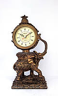 Часы статуэтка полистоун Слон