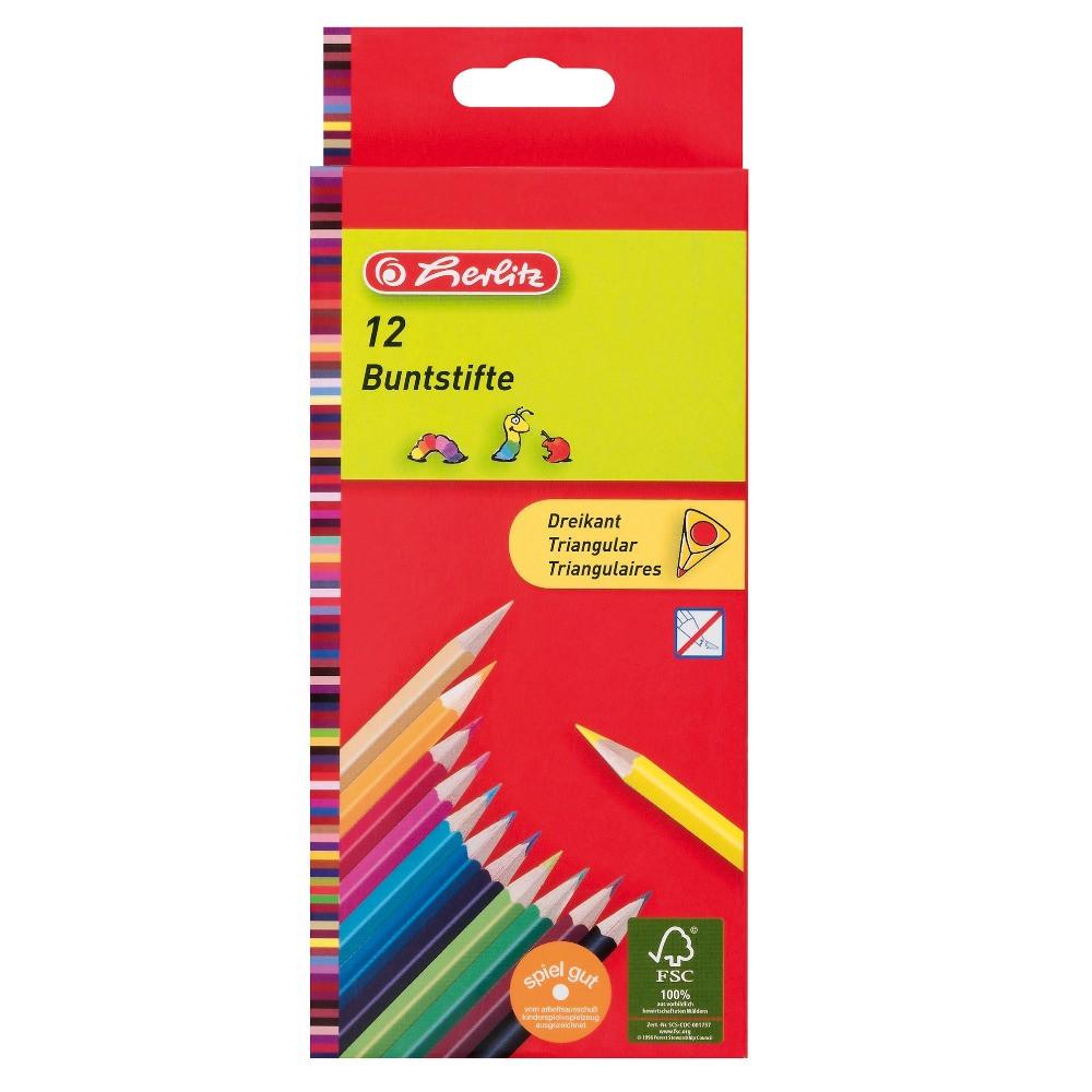 Карандаши цветные Herlitz Triangular 12 шт