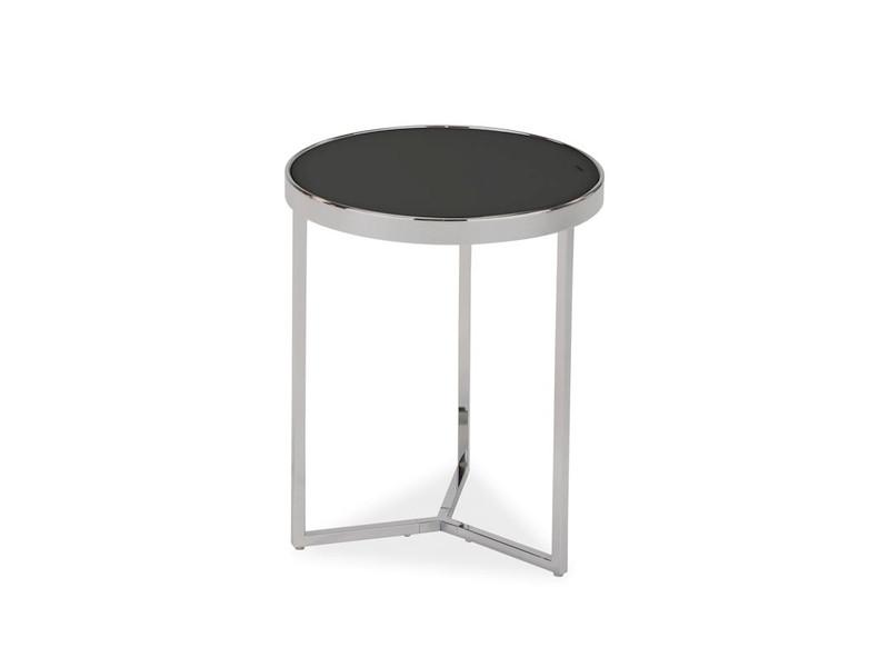 Кофейный столик круглый на металлическом каркасе Delia I