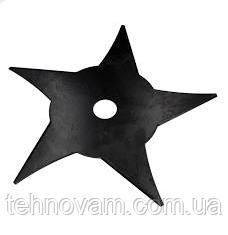 Нож - диск для мотокосы 5-ти лучевой 5T звезда d25,2х240