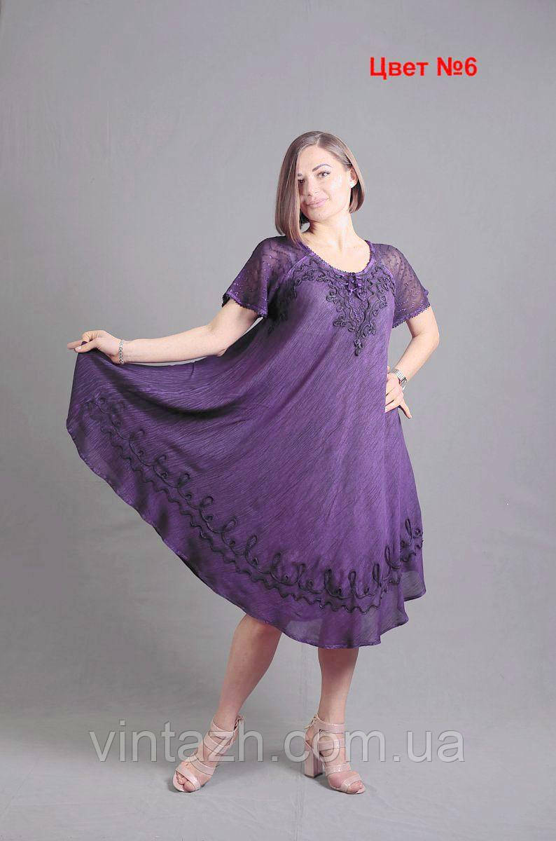 Батистове літнє жіноче плаття великого розміру купити в інтернет магазині недорого