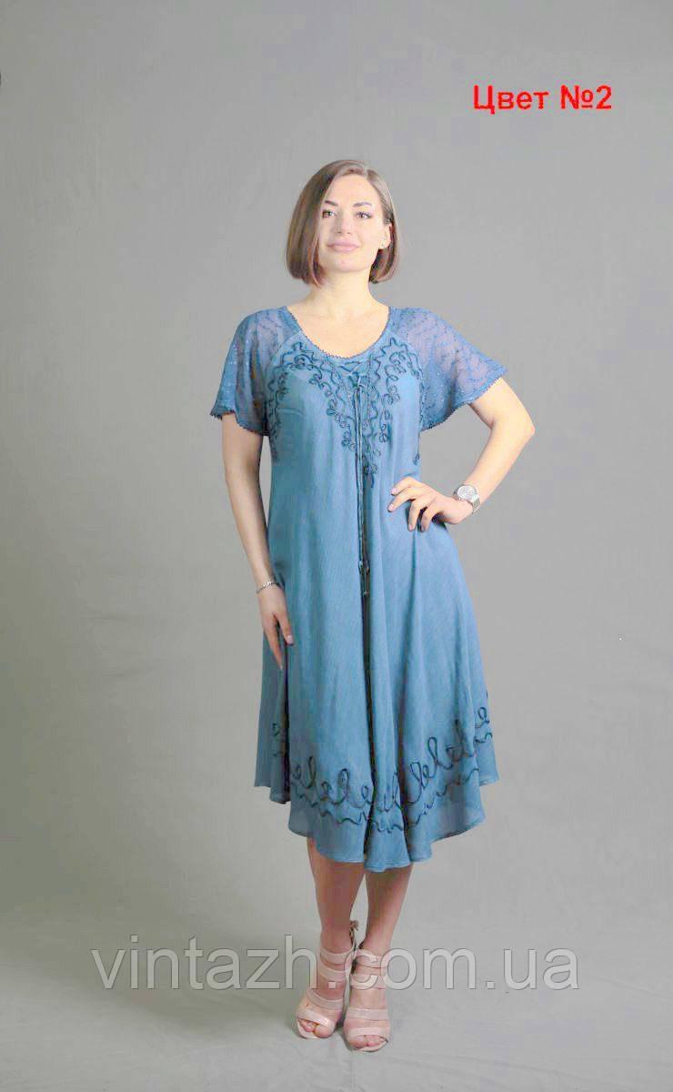 Летнее женское платье свободного кроя  большого размера 56-58   Украине