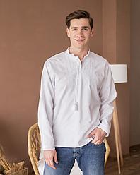 Мужская сорочка с белой вышивкой Звезда