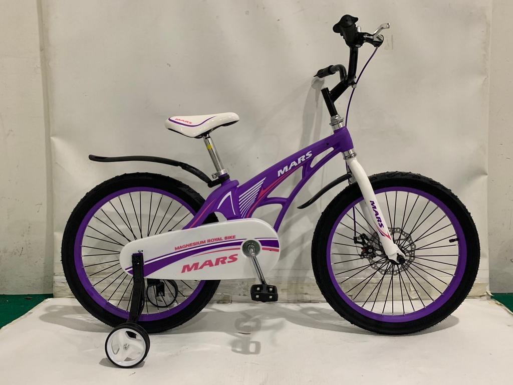 Детский легкий магниевый велосипед  MARS-20 дюймов Черный от 10 лет фиолетовый