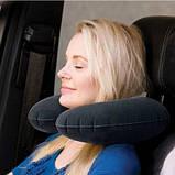 Подушка с велюровым покрытием для путешествий Intex надувная 36х30х10см, 68675, фото 2