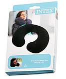 Подушка с велюровым покрытием для путешествий Intex надувная 36х30х10см, 68675, фото 3