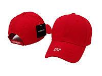 Кепка стильная хлопковая красная мужская женская унисекс бейсболка