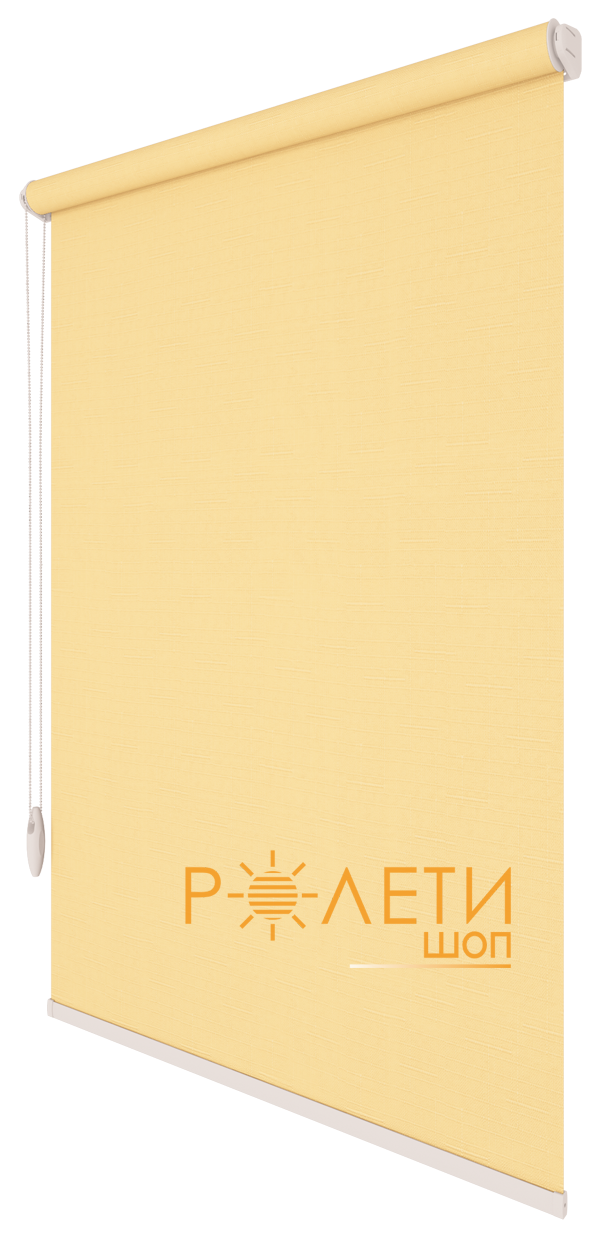 Ролета тканевая Е-Mini Лен 877 Светлый абрикос