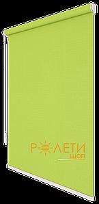 Ролета тканевая Е-Mini Лен 873 Светло-зеленый / 1100 мм