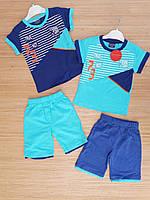 Костюм футболка с шортами  для мальчиков 2-5 лет.Турция .Оптом