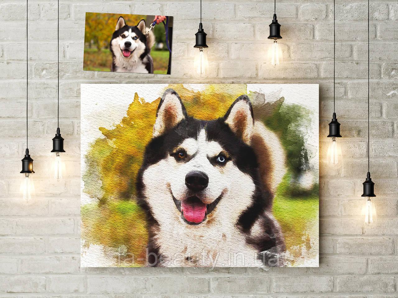 Картины по Вашим фото 70х50 см в акварельном стиле на холсте