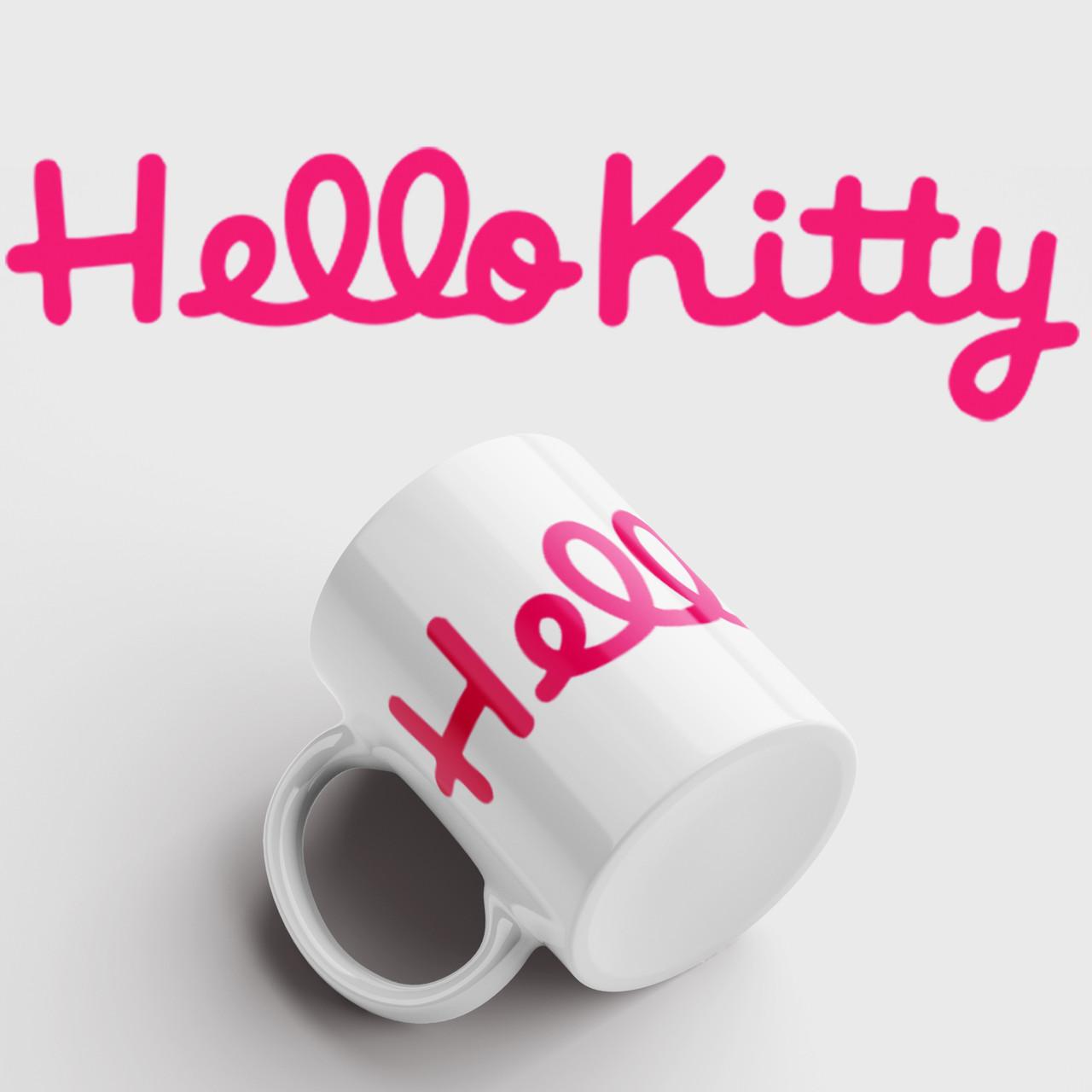 Кружка с принтом Hello Kitty. Чашка с фото