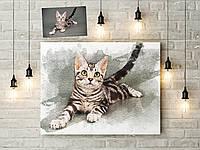 Картины по Вашим фотографиям 50х40 см в акварельном стиле на холсте