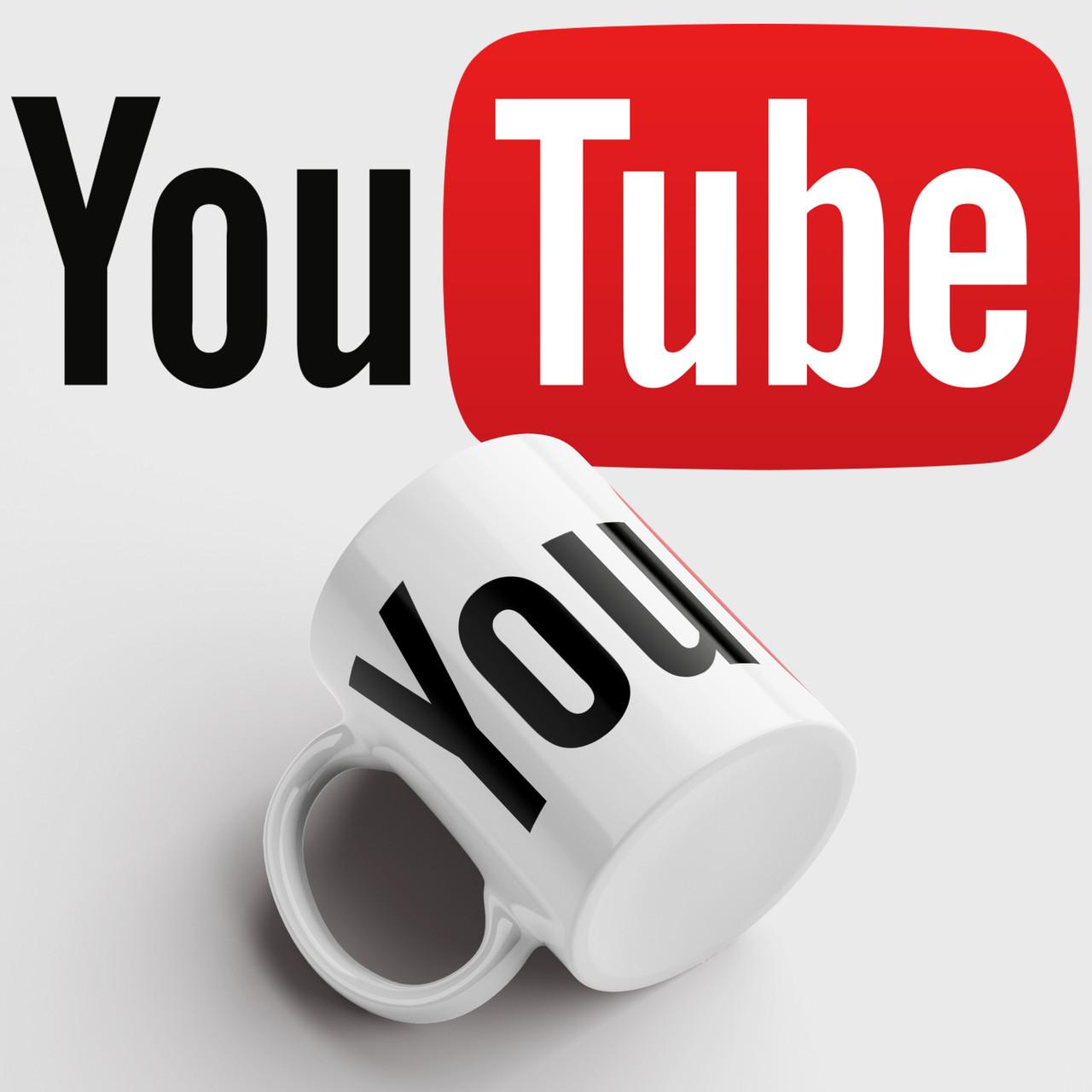 Чашка з принтом YouTube