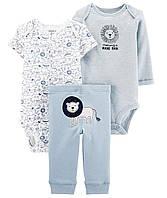 Набор одежды тройка для мальчика Carters Лев (боди и штанишки) 6 мес.